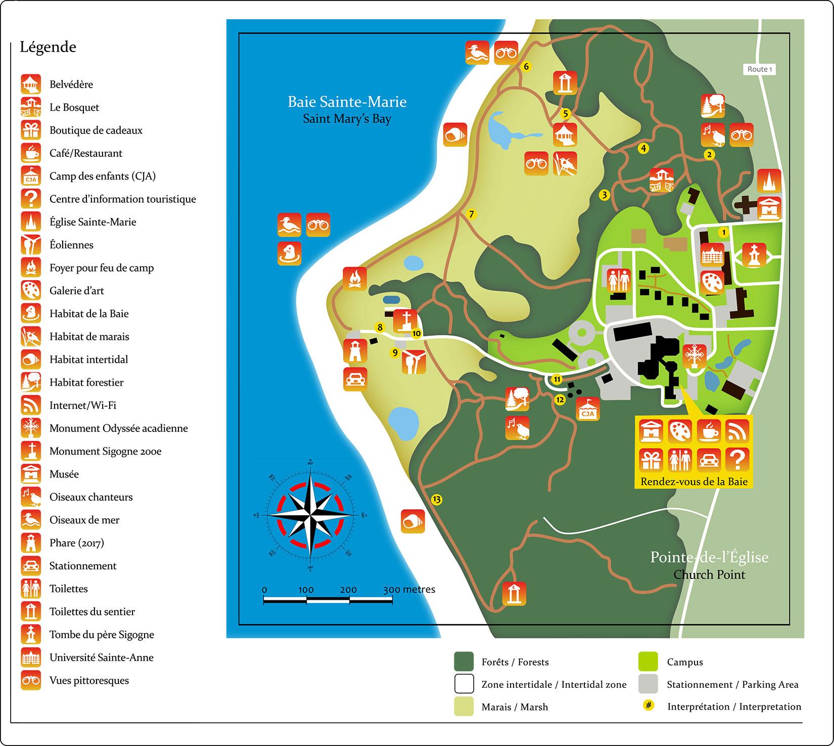 La carte des sentiers du Petit Bois