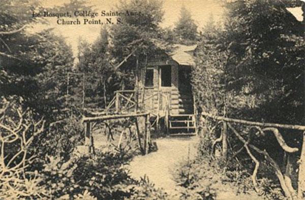 The grove in Le Petit Bois early 1900s