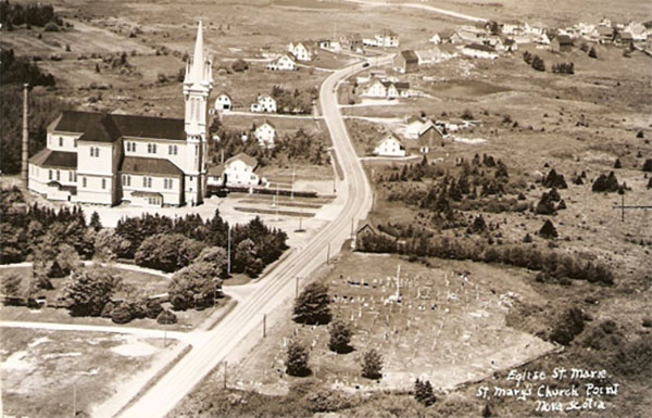 Aerial view of Église Sainte-Marie